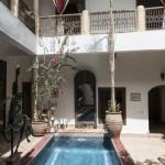 Luxury pool at Riad El Zohar in Marrakech