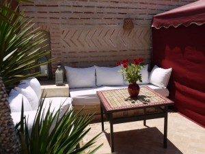 Relax in the shade at Riad El Zohar, Marrakech