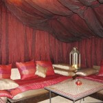 Relax in the shade of a beautiful Berber tent at Riad El Zohar, Marrakech