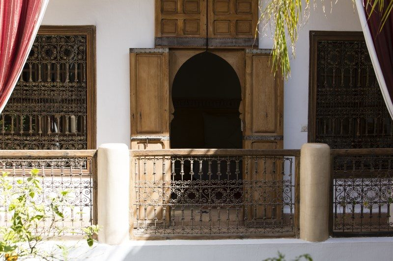 Part of our courtyard at Luxry Riad El Zohar, Marrakech,