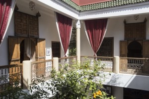 Another view of the stunning courtyard at Riad El Zohar in Marrakech.