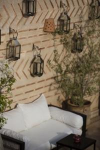 Luxurious outdoor seating, Riad El Zohar, Marrakech