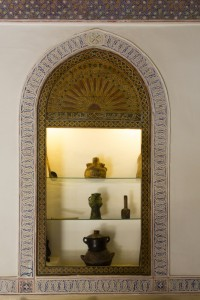 Carefully preserved historic details at Riad El Zohar, Marrakech