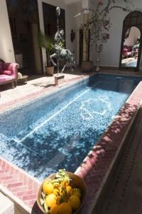 Enjoy our beautiful courtyard pool at Riad el Zohar, Marrakech
