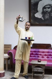 Drinks and entertainment at Riad El Zohar