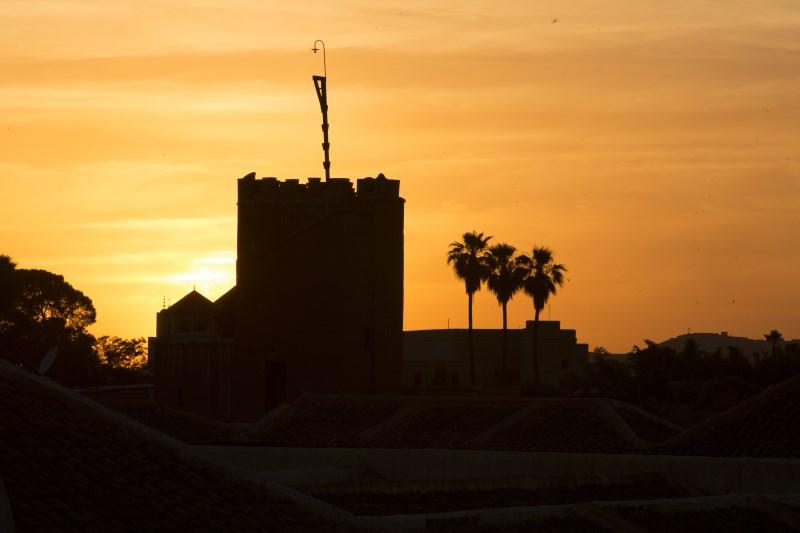 Enjoy stunning views of Marrakech at sunset at Riad El Zohar