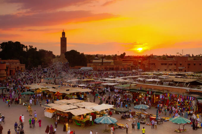A view of Marrakech Market