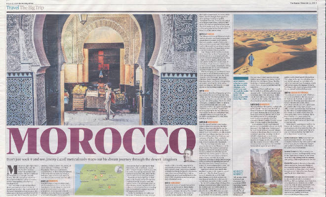 Sunday Times newspaper article July 2018 Page Image