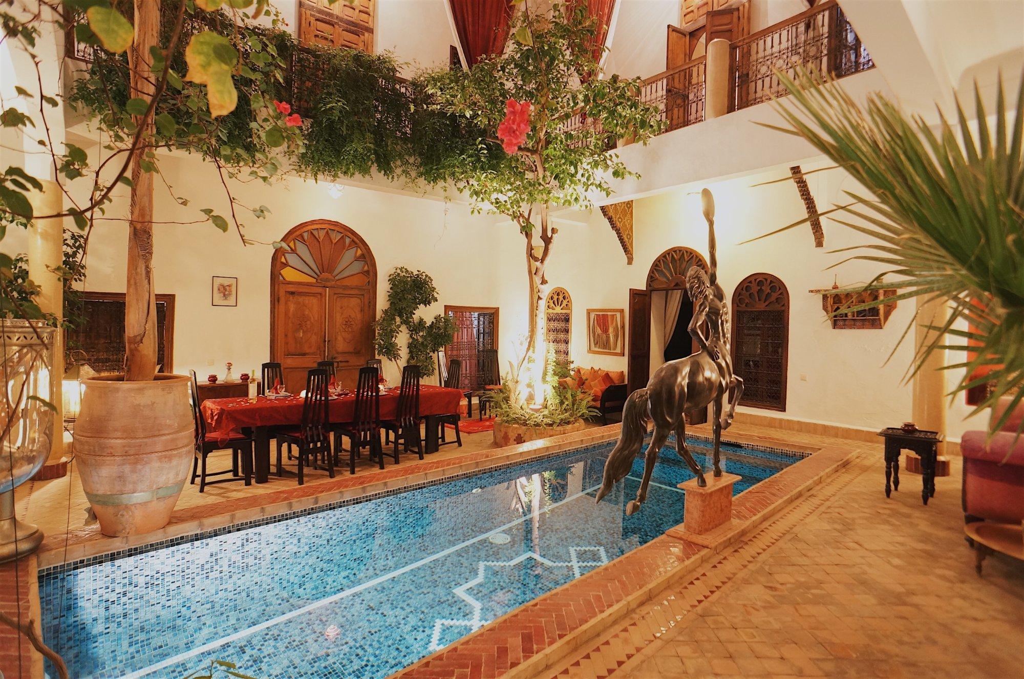 Riad El Zohar Plunge-pool-in-courtyard - Marrakech